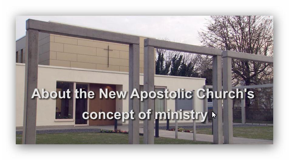 The New Apostolic concept of ministry as of Pentecost 2019